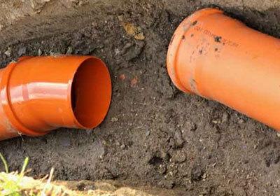 Underground Sewage Connection