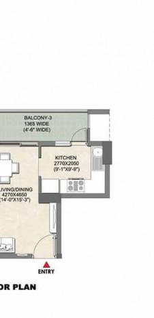 Tata Eureka Park Floor Plan | Tower 8 to 10 Plan - Unit Plan for Tata Eureka Park 3 BHK Flat
