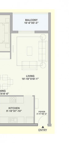 Unit Plan for Tata Ariana - Tower 3 & 4 - 2 BHK Large