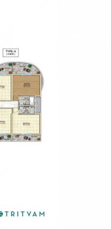 Tata Realty Tritvam Floor Plan - 13th to 25th Odd Floor