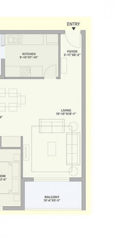 Unit Plan for Tata Ariana - Tower 10 & 11 - 2 BHK Large