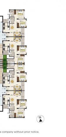 Tata Value Homes Santorini Floor Plan -2 BHK KAMARI