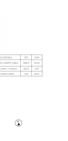 Unit Plan for Tata Value Homes Santorini Phase 1 B - 1 BHK Type-2