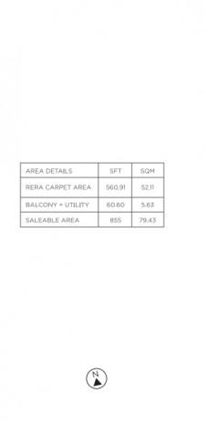 Unit Plan for Tata Value Homes Santorini Phase 1 B - 2 BHK Type-1