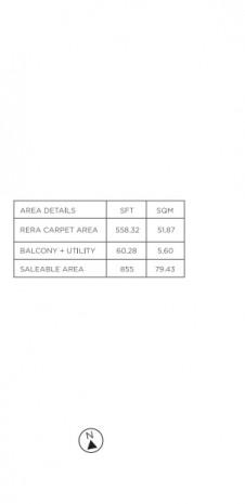 Tata Value Homes Santorini - Unit Plan for Phase 1 B - 2 BHK Type-2