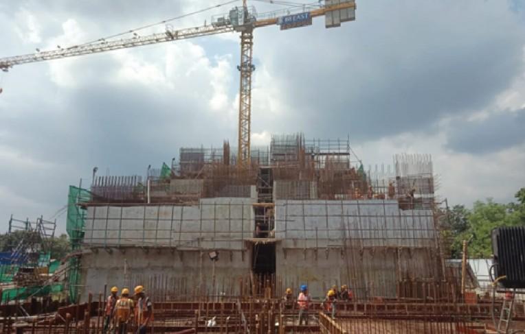 Ground floor slab above UGT